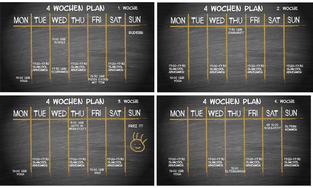 Slimcool Abnehmen mit Kaelte - der 4 Wochenplan